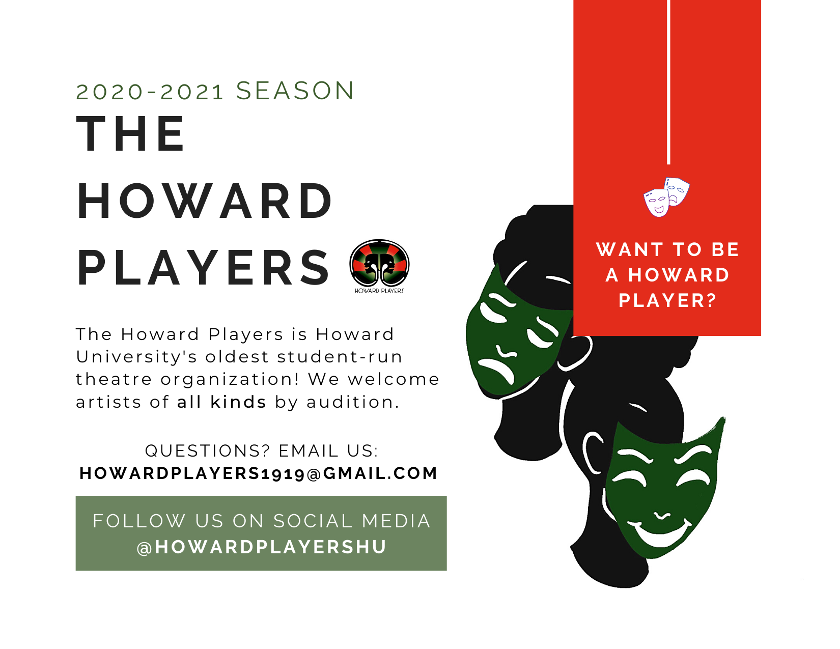 Join the Howard Players!- FA 20